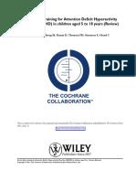 Articulo de TDAH y metilfenidato