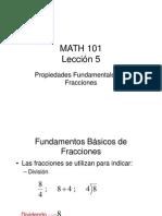 Propiedades Fundamentales de Fracciones Lección 5