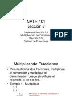 Multiplicación y División de Fracciones Lección 6