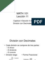 División con Decimales Lección 11