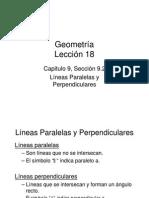 Líneas Paralelas y Perpendiculares Lección 18