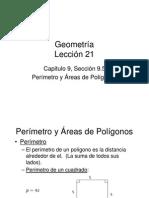 Perímetro y Áreas de Polígonos Lección 21