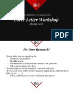 Spring 2018_ Cover Letter Workshop