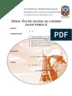 Via de Acceso Al Caserio Juan Pablo II Final
