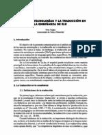 Nuevas Tecnologias y Traduccion