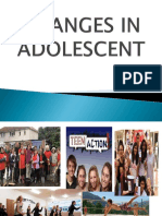 Changes in Adolescent