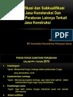 Sosialisasi Permen PU 08 - GAPENSI JATIM - Klasifikasi Dan Kualifikasi - 20 September 2011