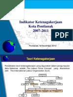 Indikator Ketenagakerjaan Kota Pontianak 2007-2011