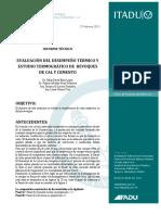 Reporte Evaluación Desempeño Térmico y Estudio Termográfico de Revoques de Cal y Cemento