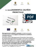 Curs 9 - Managementul Calitatii Proiectului