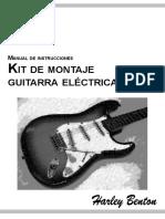 Manual de Instrucciones. Kit de Montaje. Guitarra Eléctrica ST
