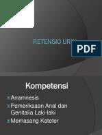 Retensio urin
