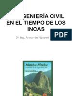 La Ingenieria Civil en El Tiempo de Los Incas