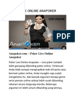 Poker Live Online Anapoker