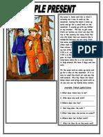 Simple Present Reading Comprehension Text Grammar Drills Reading Comprehension Exercises