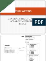 General Argumentative Essay Structure
