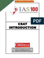 Chronicle CSAT Introduction