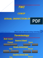 129465013 TWI CSWIP Visual Inspection of Weld