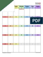 July 2018 Calendar Landscape