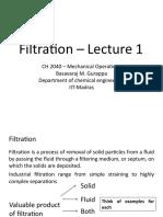 Filtration l 1