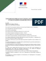 Arrêté préfectoral relatif aux mesures d'urgence socles prises dans le cadre de l'épisode de pollution atmosphérique débuté le 05 août 2018