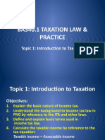 Topic 1 Introduction to Taxation