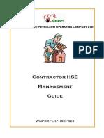 029 - Contractor HSE Management