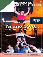 Agenda Cultura Aranguren Verano