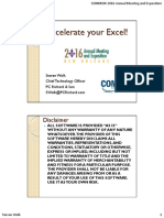 Accelerate Your Excel