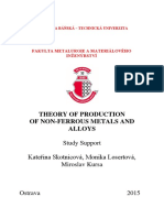 Theory of Non-Ferrous Metals and Alloys Processing