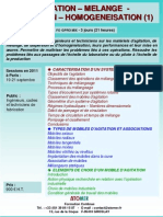 Formation Continue Agitation Melange Dispersion ion 2011