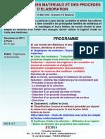 Formation Continue Aide Au Choix Des Materiaux Et Des Procedes Elaboration 2011