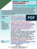 Formation Continue Chimie de l'Environnement 2011