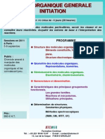 Formation Continue Chimie Organique Generale Initiation 2011