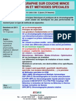 Formation Continue Chromatographie Sur Couche Mince 2011