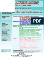 Formation Continue Evaluation Et Prevention Des Risques Chimiques Et CMR 2011