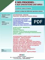 Formation Continue Genie Des Procedes Introduction Aux Operations Unitaires 2011