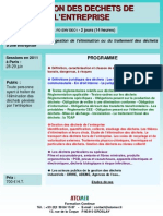 Formation Continue Gestion Des Dechets Entreprise 2011