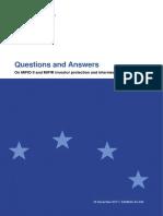 Mifid II Qas on Investor Protection Topics