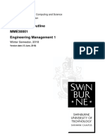 MME30001 Engineering Management 1 Winter Semester, 2018
