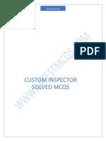 Custom Inspector Mcqs