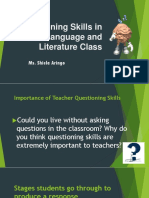 Questioning Skills in the Language and Literature Class
