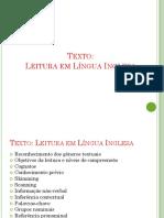 Leitura Em Língua Inglesa - Slides
