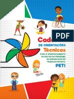 Caderno de Orientações Técnicas para Prevenção Erradicação Trabalho Infantil