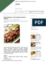 Cara Membuat Ayam Goreng Bawang Spesial _ Resep Masakan Indonesia