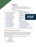 Pro E Fundamentals Overview