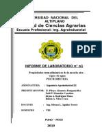Psicrometria Report