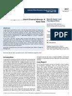 Congenital Bilateral Choanal Atresia