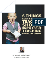 6 things every teacher should know about teaching pronunciation