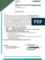 Surat Undangan PT Deltapack Industri